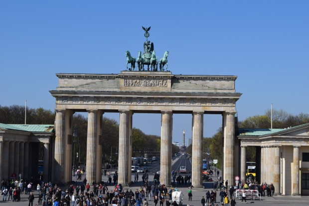 The Brandenburg Gate.